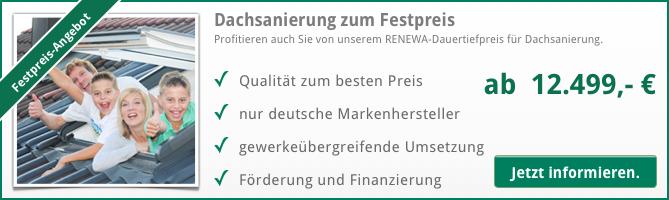Dachsanierung Festpreis Angebot RENEWA
